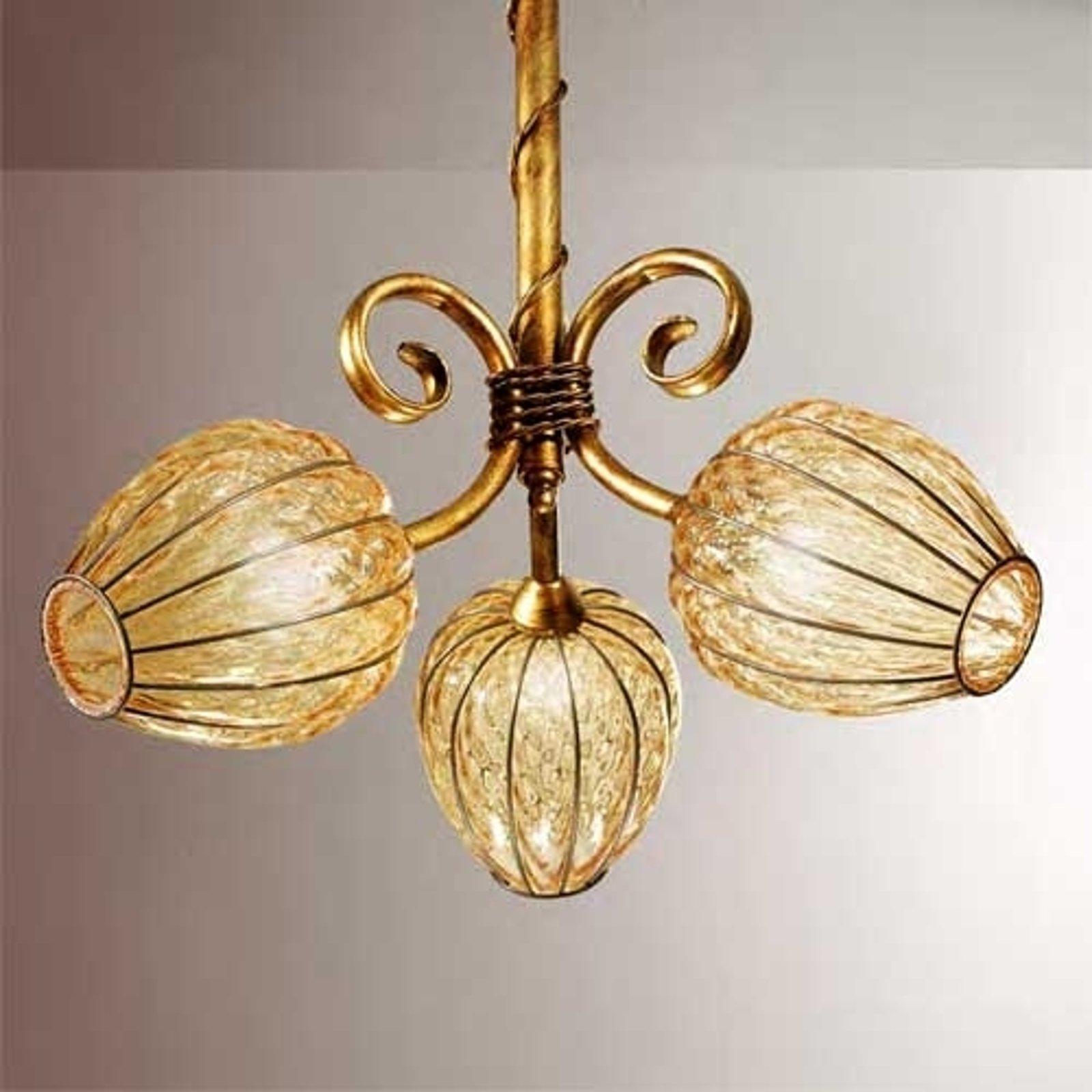 Klassisk taklampe GEMMA, munnblåst