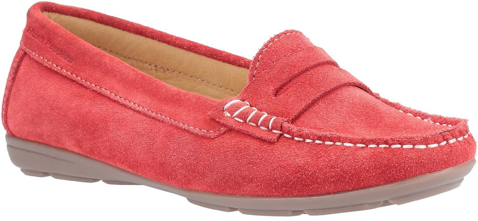 Hush Puppies Women's Margot Slip On Loafer Various Colours 30238 - Red 3