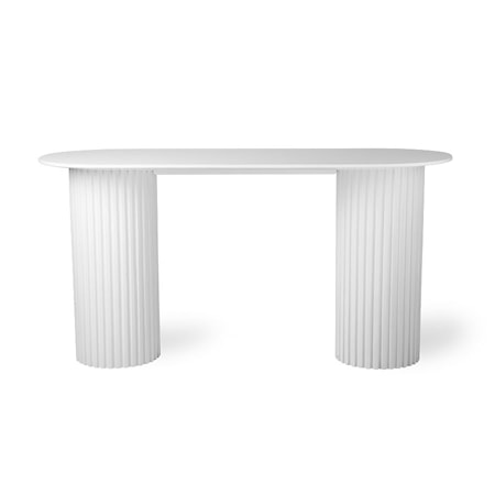 Pillar Sidobord Oval White