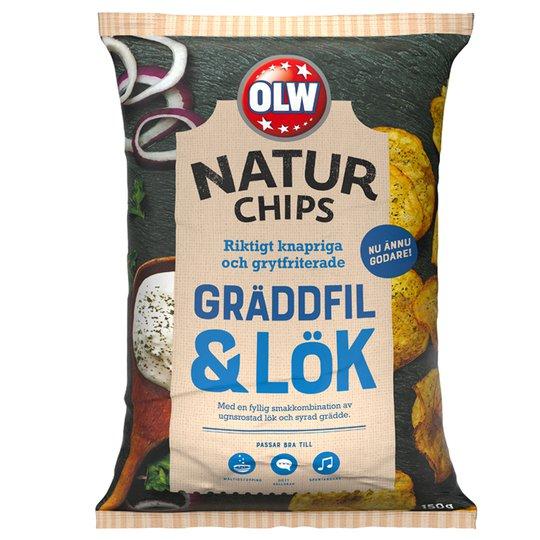 Naturchips Gräddfil & Lök - 25% rabatt