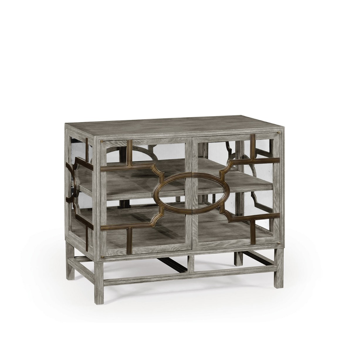 William Yeoward | Hewlett Glazed Cabinet With Bronze Greyed Oak