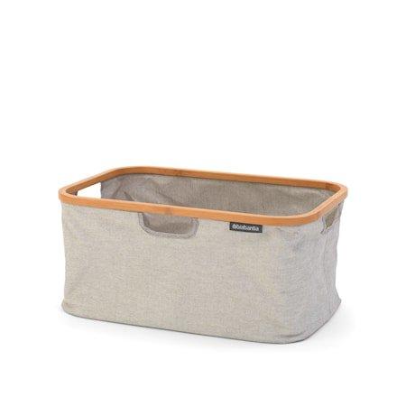 Sammenleggbar Vaskekurv med bambusramme 40 L Grå