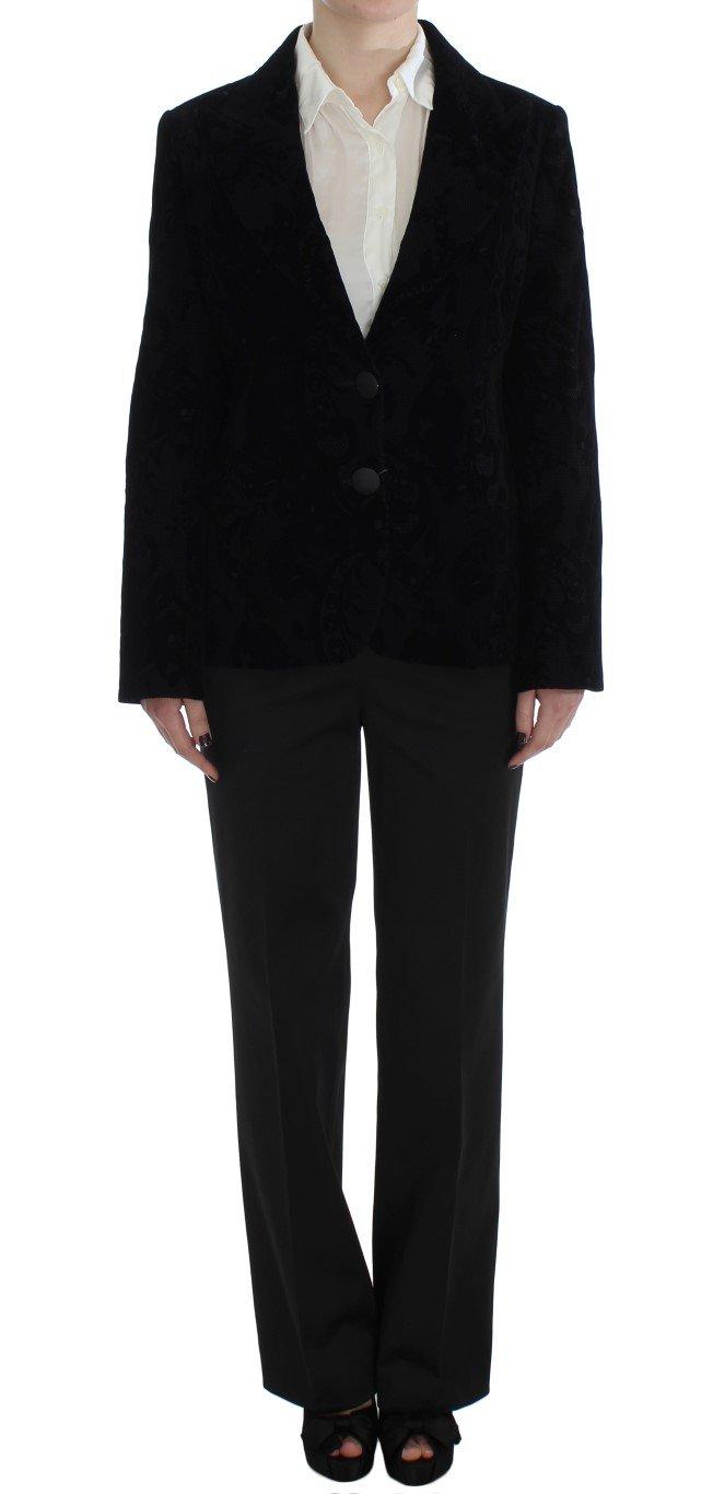 BENCIVENGA Women's Lace Stretch Suit Black SIG30899 - L