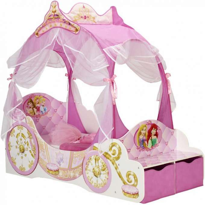 Disney Princess - Carriage Toddler Bed with Storage (452DYR01EM)