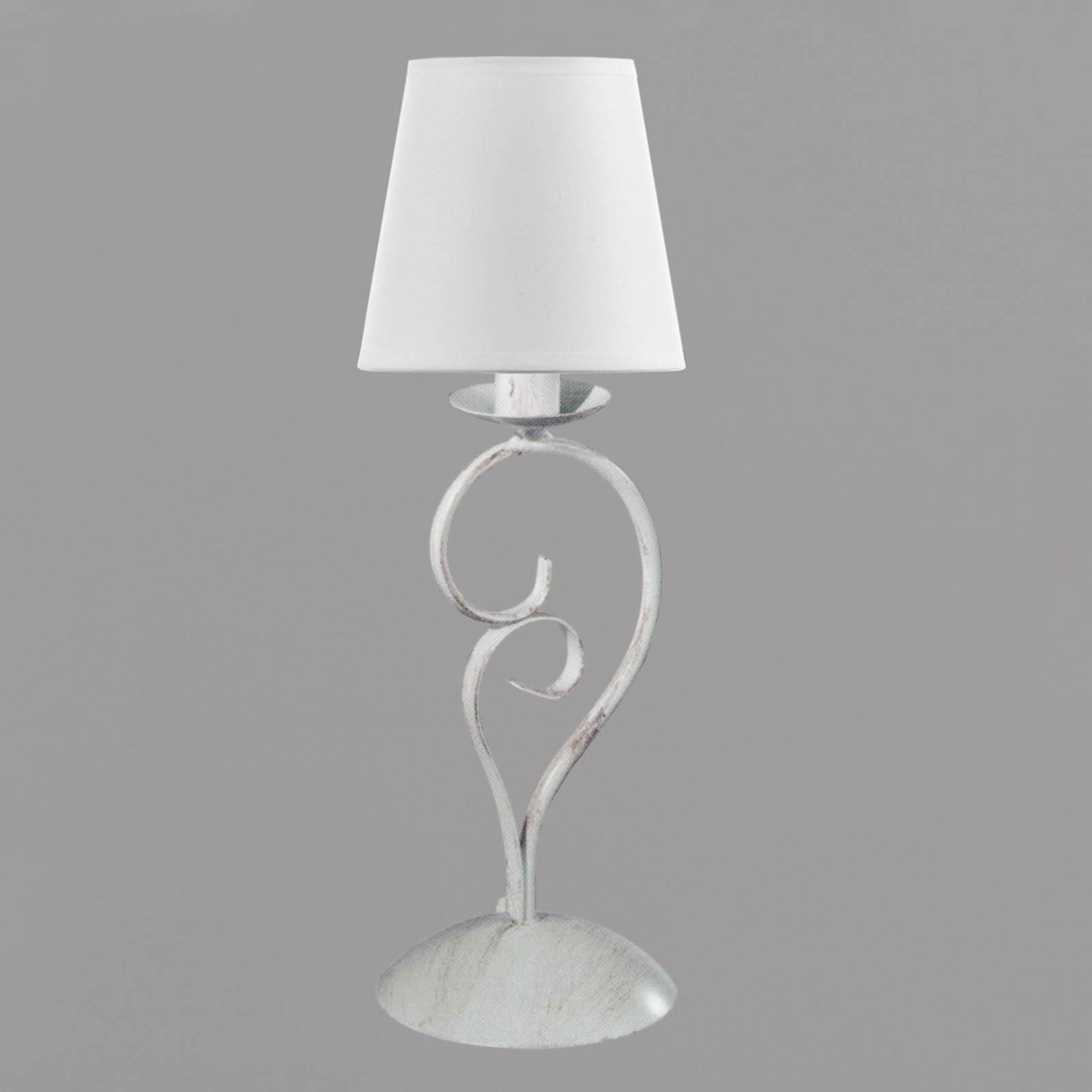 Pöytävalaisin Pompei, korkeus 50 cm, valkoinen