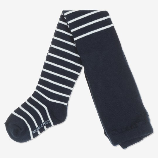 Strømpebukse stripet baby mørkblå