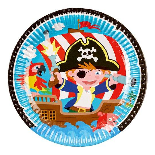 Papperstallrikar Pirat Jolly Roger - 8-pack