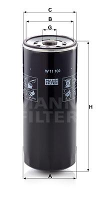 Öljynsuodatin MANN-FILTER W 11 102