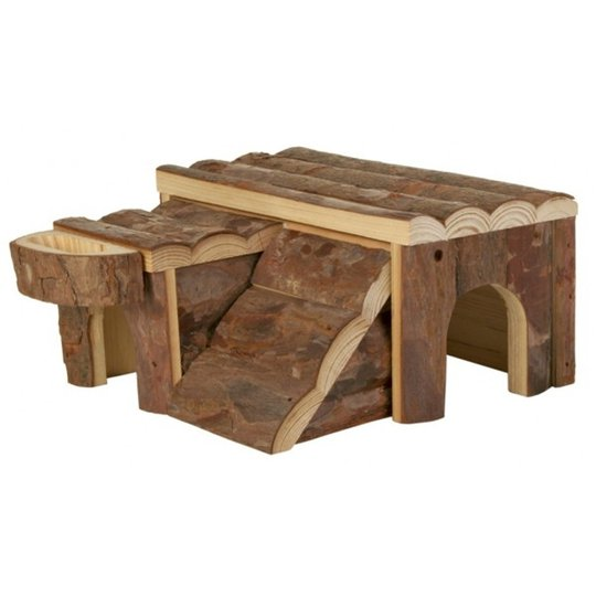 Hamsterhouse wood w/ ramp Trixie