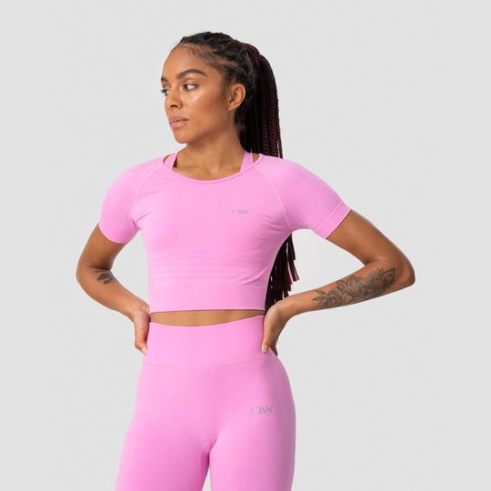 Define Seamless Cropped T-shirt, Pink Melange