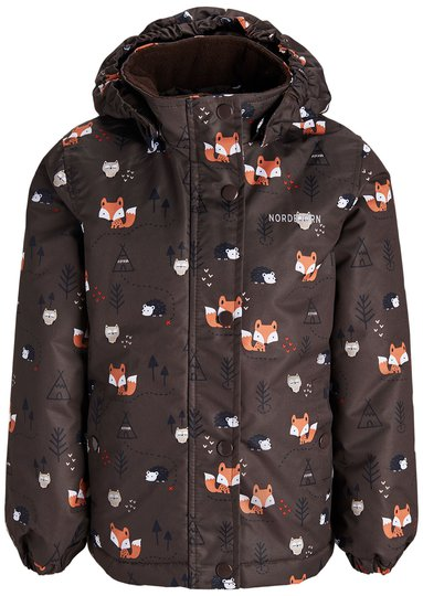 Nordbjørn Minilanche Vinterjakke, Brown Woodi 122-128