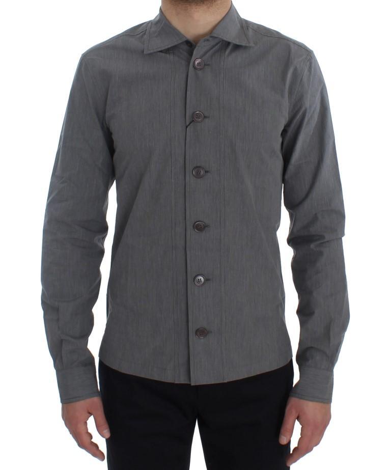 Dolce & Gabbana Men's Formal Dress Button Shirt Gray SIG20406 - 39