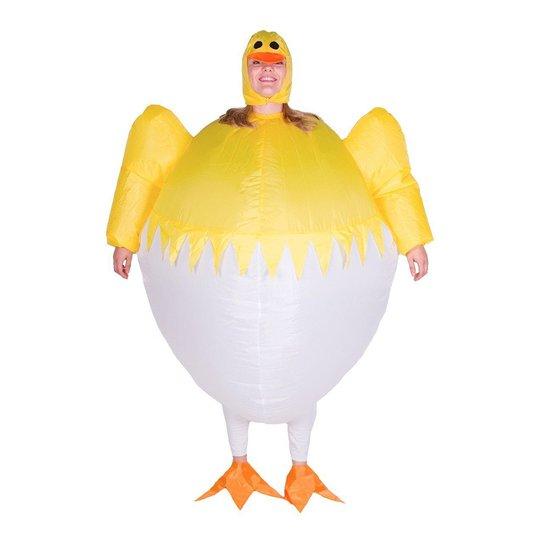 Uppblåsbar Kyckling i Ägg Maskeraddräkt - One size