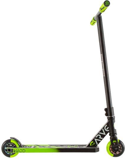 Madd Gear Sparkesykkel Carve Pro X, Svart/Grønn