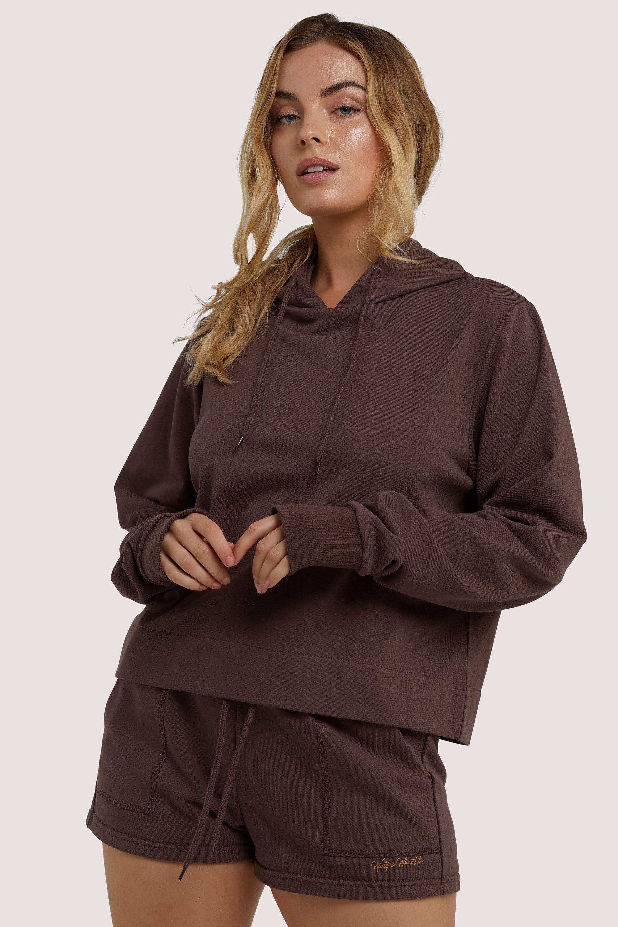 Wolf & Whistle Brown Hooded Top UK 8 / US 4