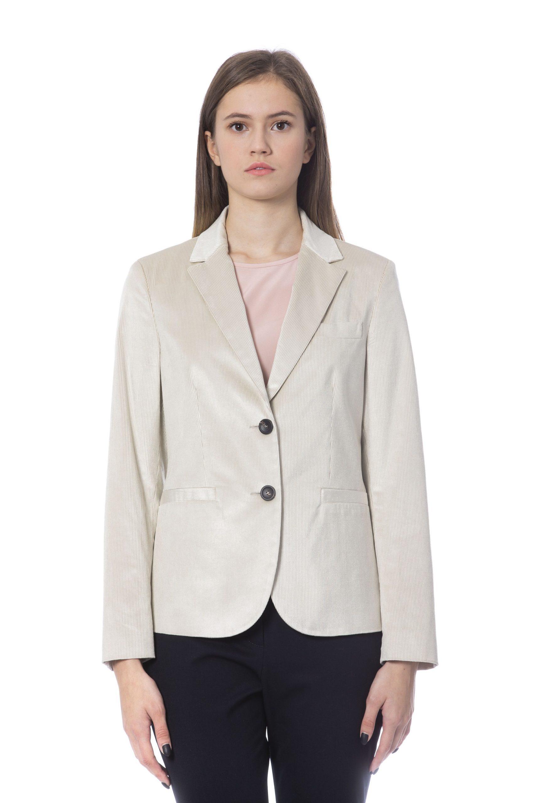 Peserico Women's Jackets Beige PE854142 - IT42   S