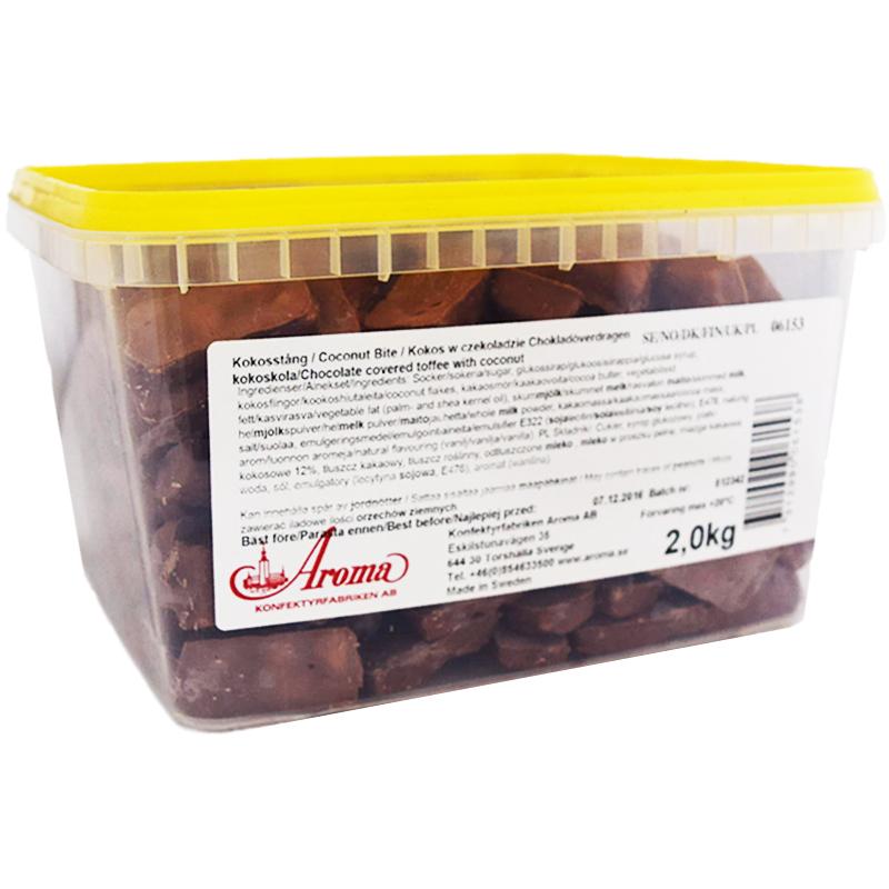 Hel Låda Kokoskola 2kg - 75% rabatt