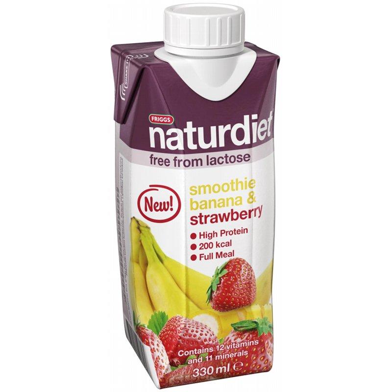 Ateriankorvike smoothie Banaani Mansikka, 330ML - 40% alennus