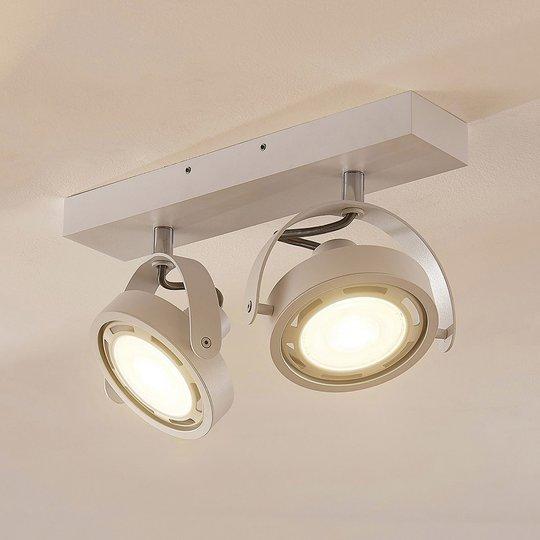 Valkoinen LED-kattovalaisin Munin, GU10 himm.