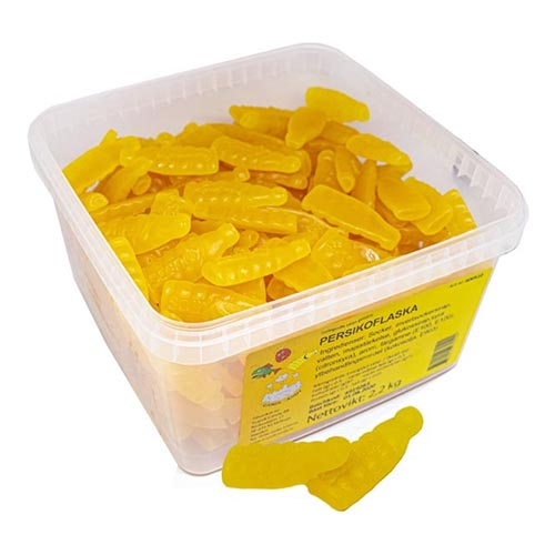 Persikoflaskor Lösvikt i Burk - 2.2 kg