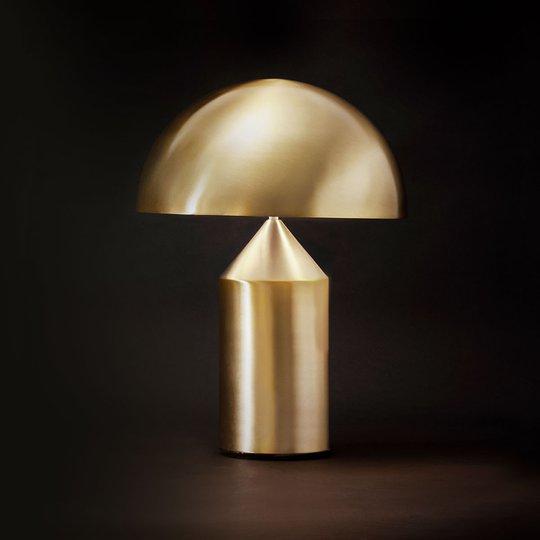 Oluce Atollo - stilig designer-bordlampe, gull