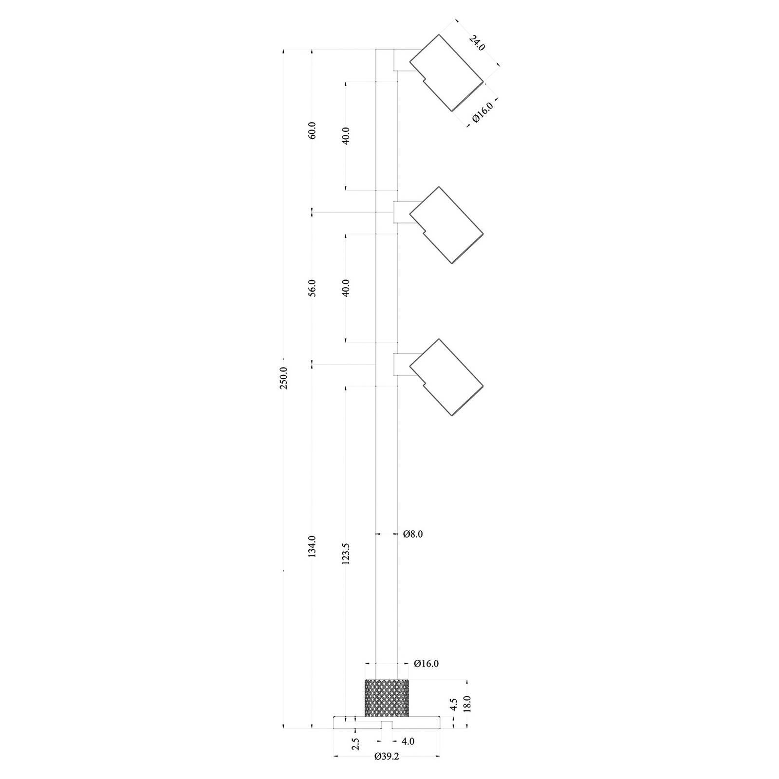 LED-display-valaisin Herculis triple 4 000 K musta