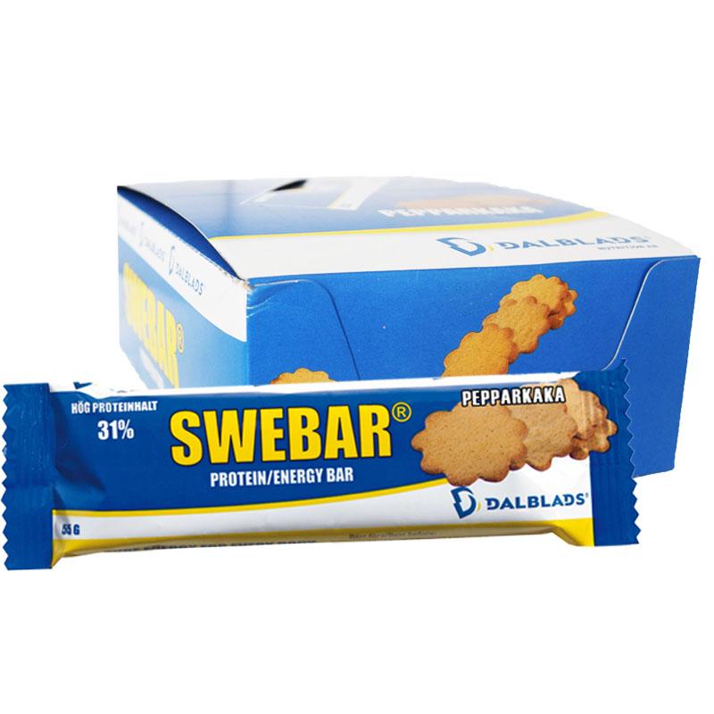 """Hel Låda Proteinbars """"Pepparkaka"""" 20 x 55g - 57% rabatt"""