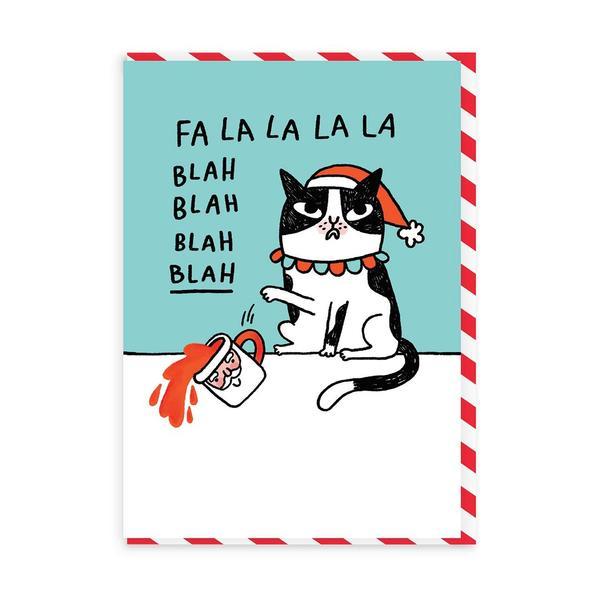 Fa La La La La Blah Christmas Card