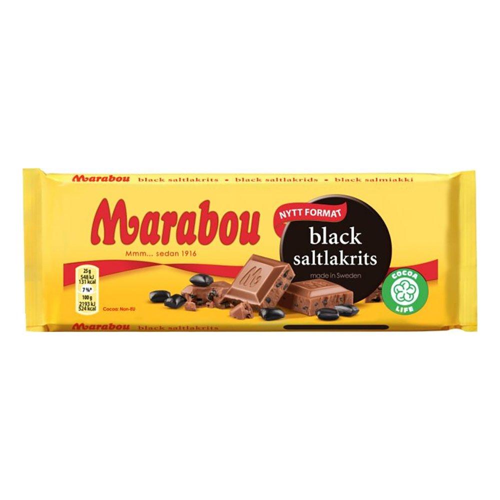 Marabou Black Saltlakrits - 100 gram