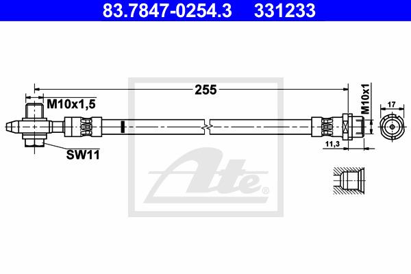 Jarruletku ATE 83.7847-0254.3