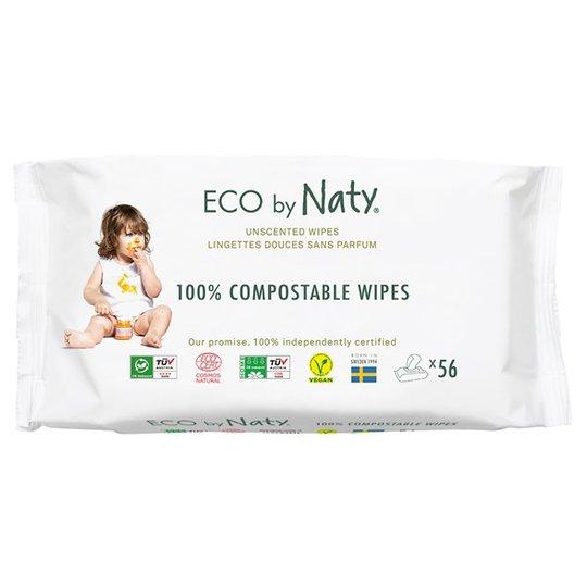 Naty Miljövänliga Våtservetter oparfymerade, 56 st