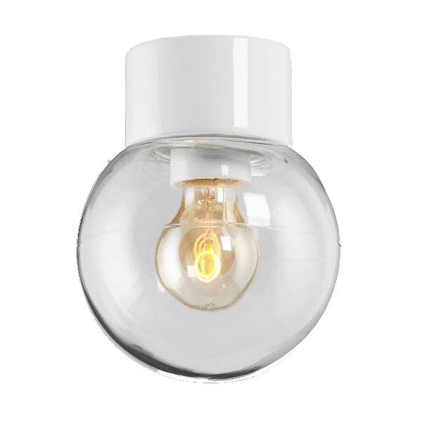 Ifö Electric Classic Glob 150 Takarmatur IP54, rett, E27, rett Hvit