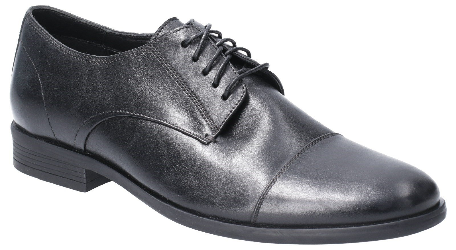 Hush Puppies Men's Ollie Cap Toe Lace Up Shoe Various Colours 29187 - Black 6