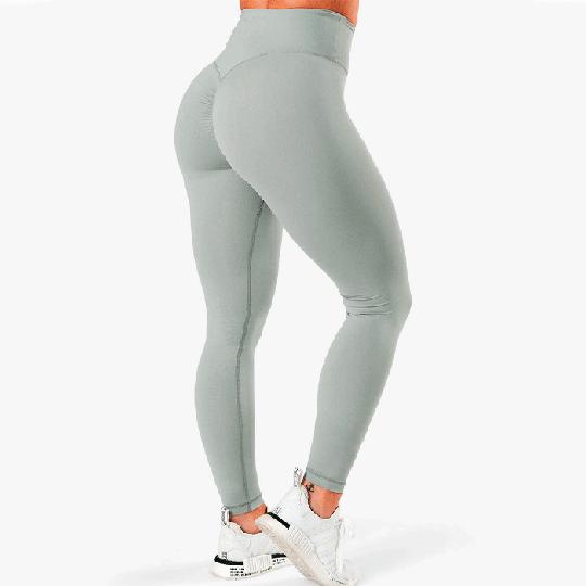Scrunch V-Shape Tights, Silver Mist