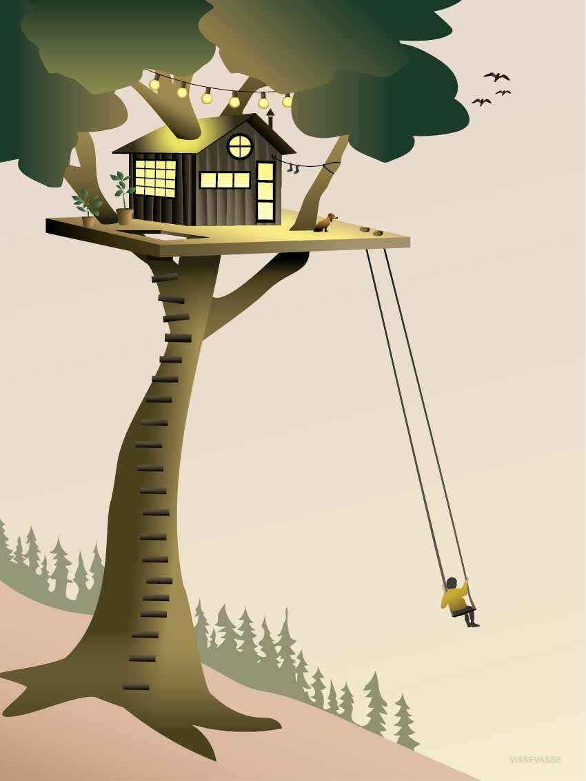 ViSSEVASSE Juliste Tree House 30x40