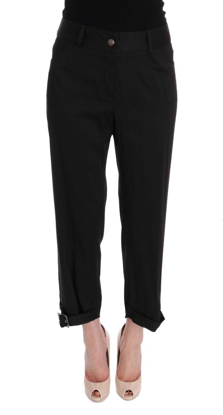 BENCIVENGA Women's Cotton Capri Trouser Black SIG50007 - IT50   XXL