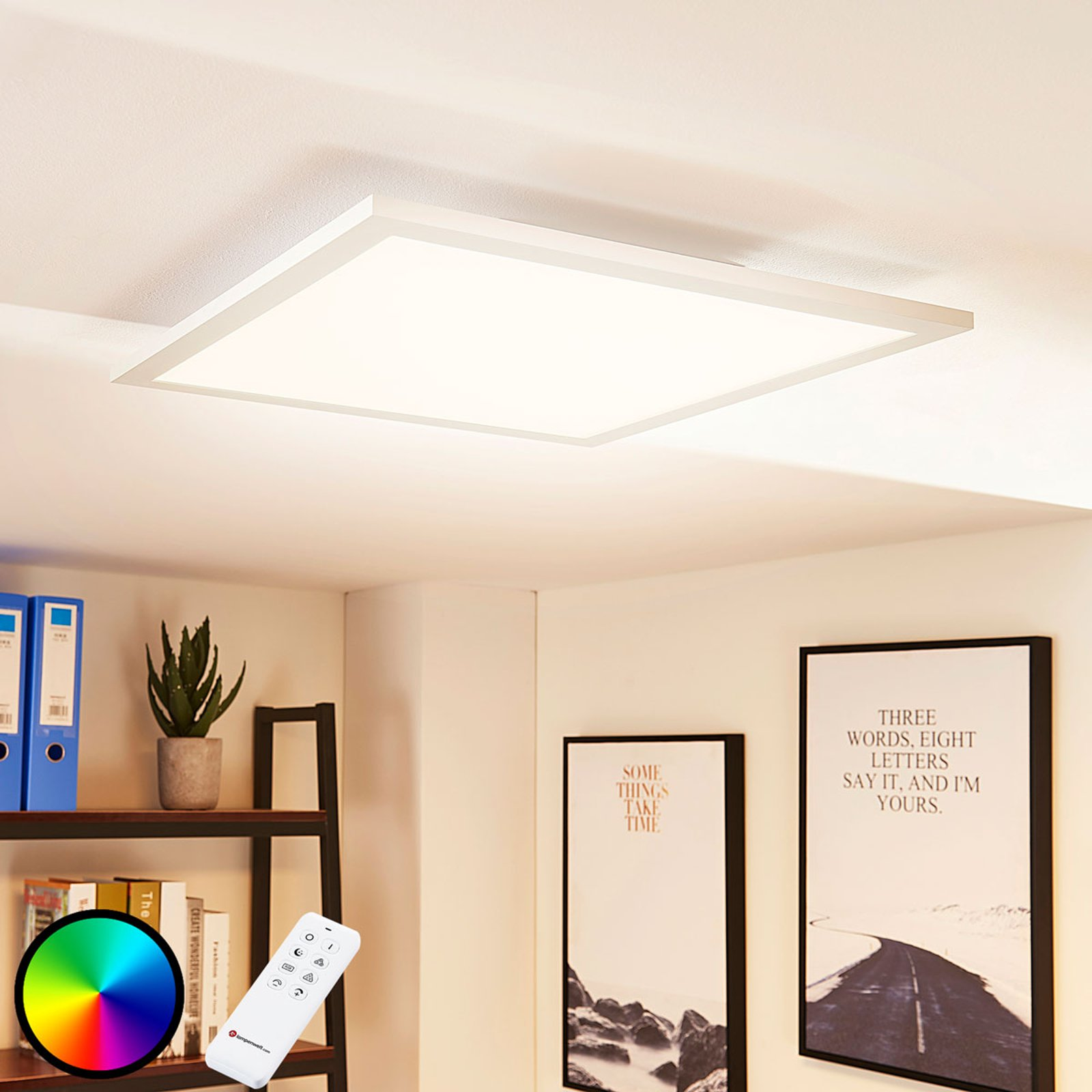 LED-panel Tinus, fargeveksling RGB - varmhvit