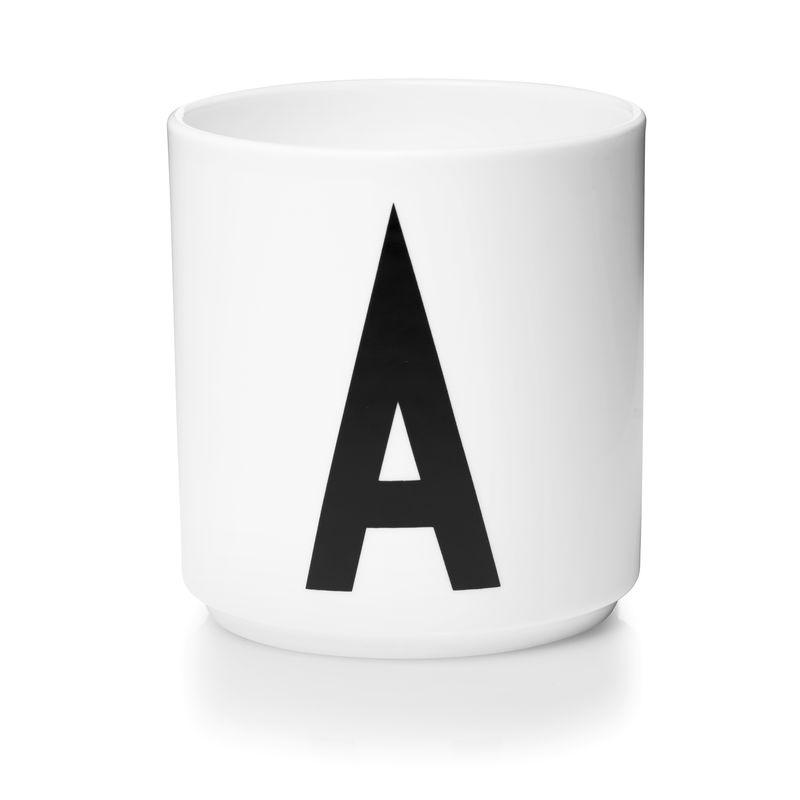 Design Letters - Personal Porcelain Cup A - White (10201000A)