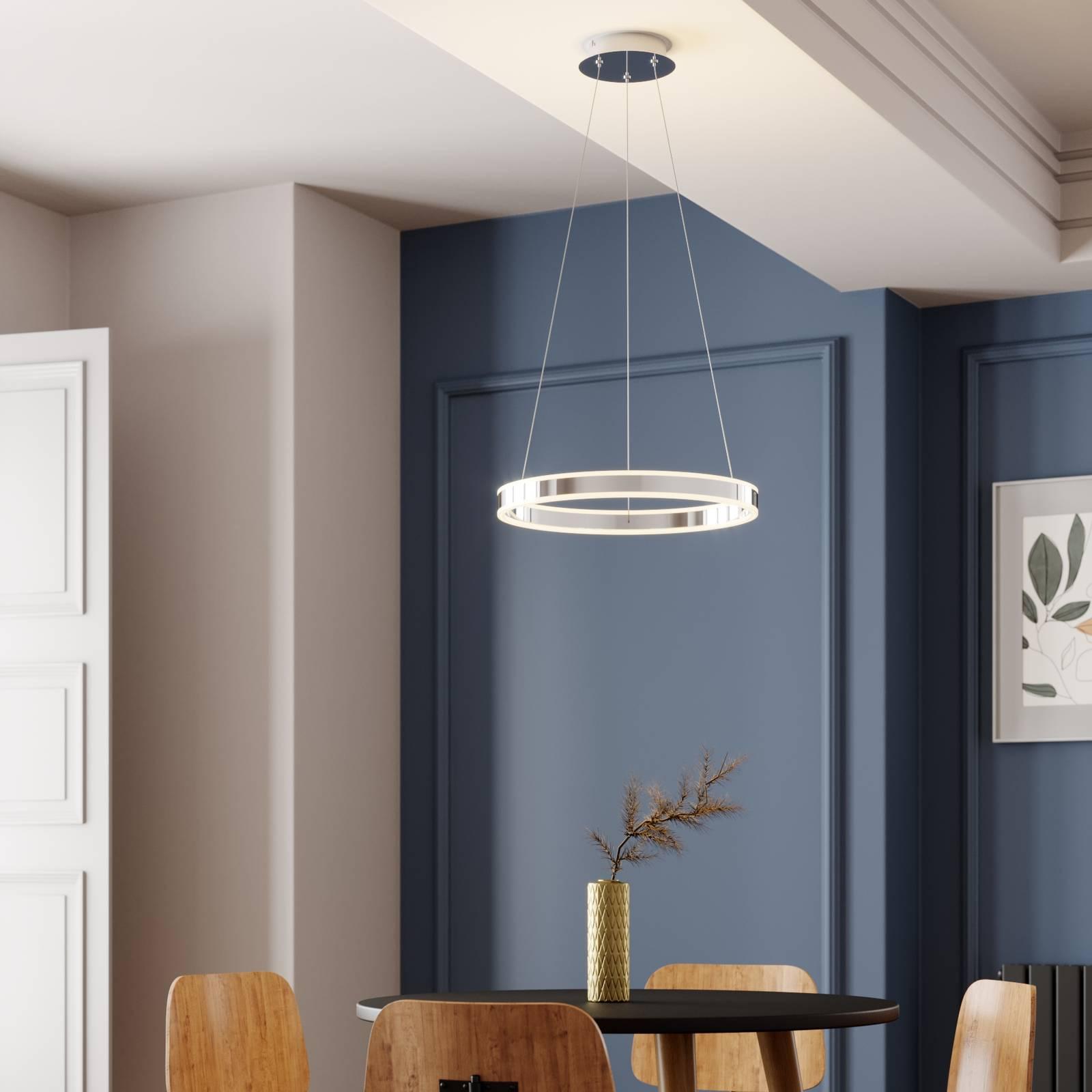 LED-riippuvalo Lyani, kromi, himmennettävä, 50 cm