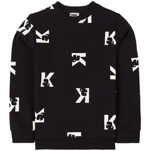 Karl Lagerfeld Kids All Over Logo Tröja Svart 4 år