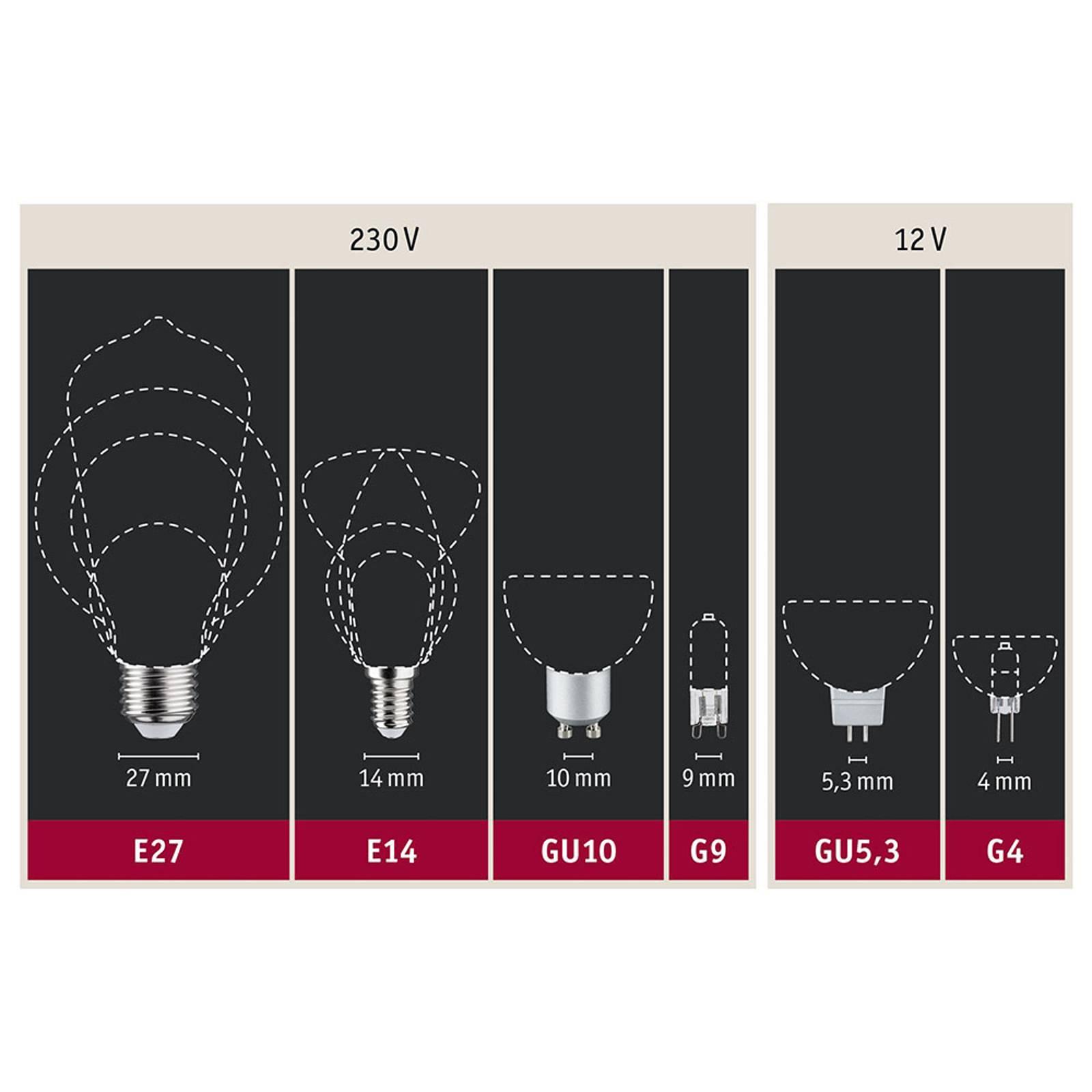 Paulmann-LED-Globe E27 G125 Inner Shape 4W kulta