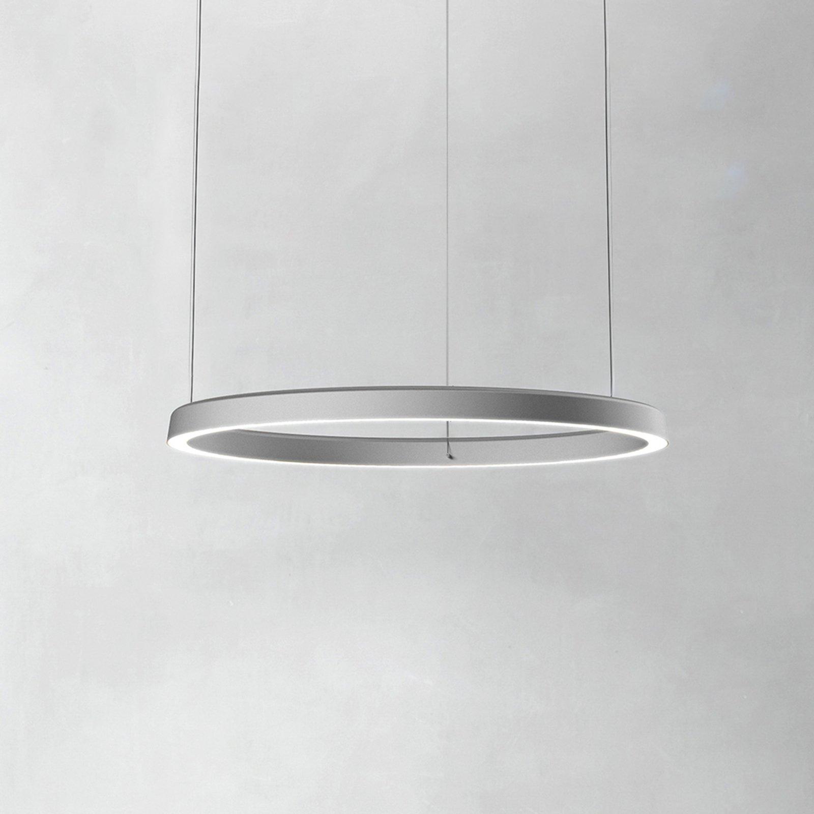 Luceplan Compendium Circle 72cm, aluminium