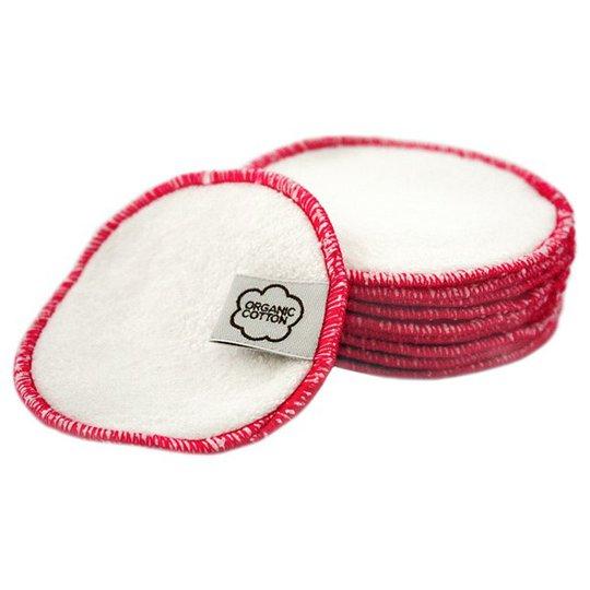 ImseVimse Rengöringspads av ekologisk bomullsfrotté - Rosa, 10-pack