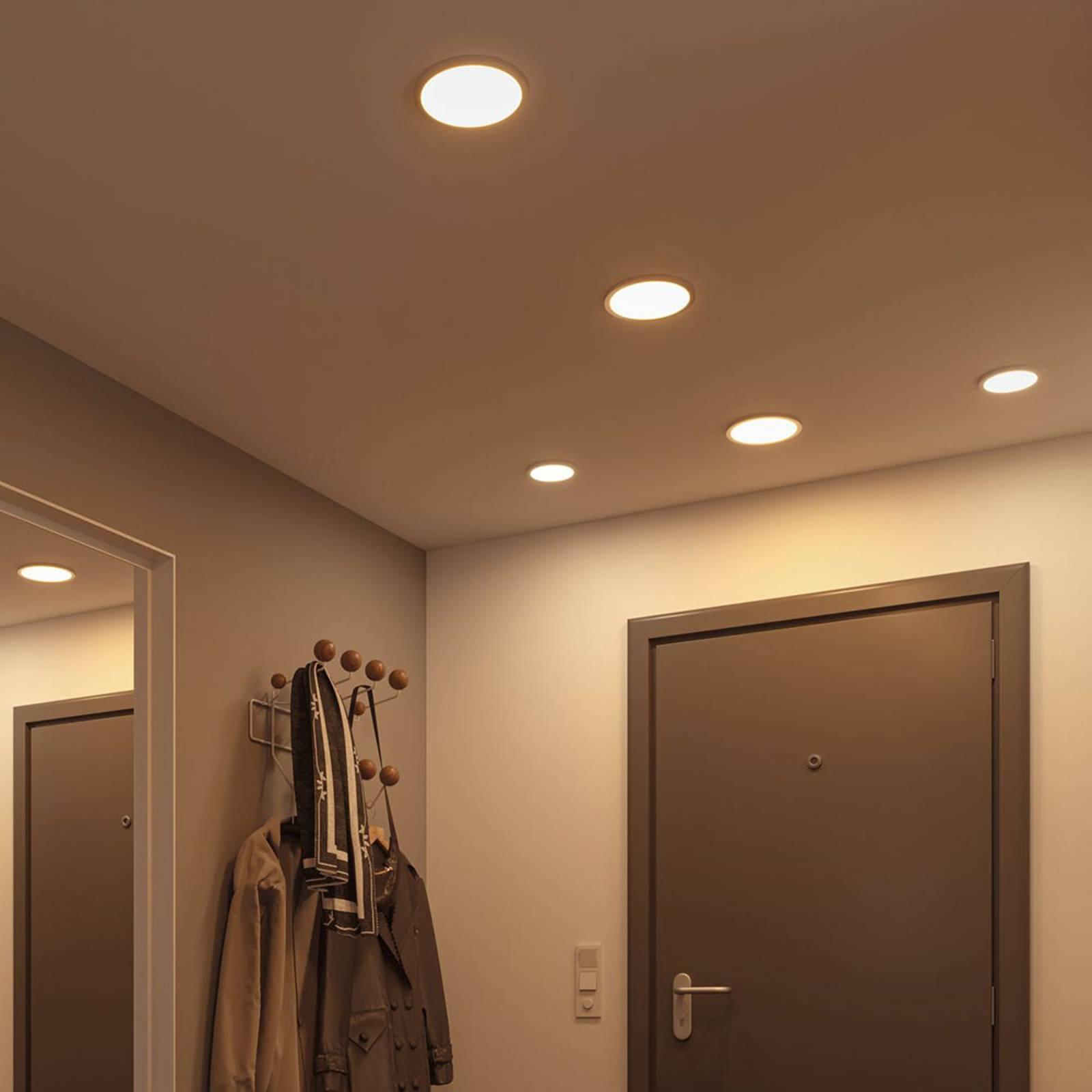 Paulmann-LED-paneeli Areo 4000 K, kromi, 11,8cm