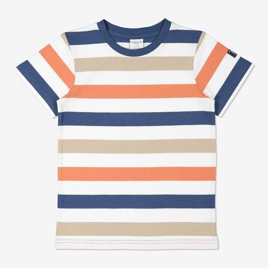Bredstripet T-skjorte blå