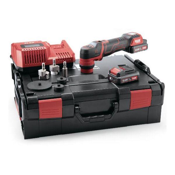 Flex PXE80 10.8-EC Set Polermaskin med batterier, lader og tilbehør