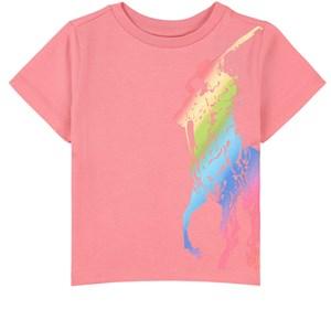 Ralph Lauren Logo Print Tee T-shirt Rosa 2 år