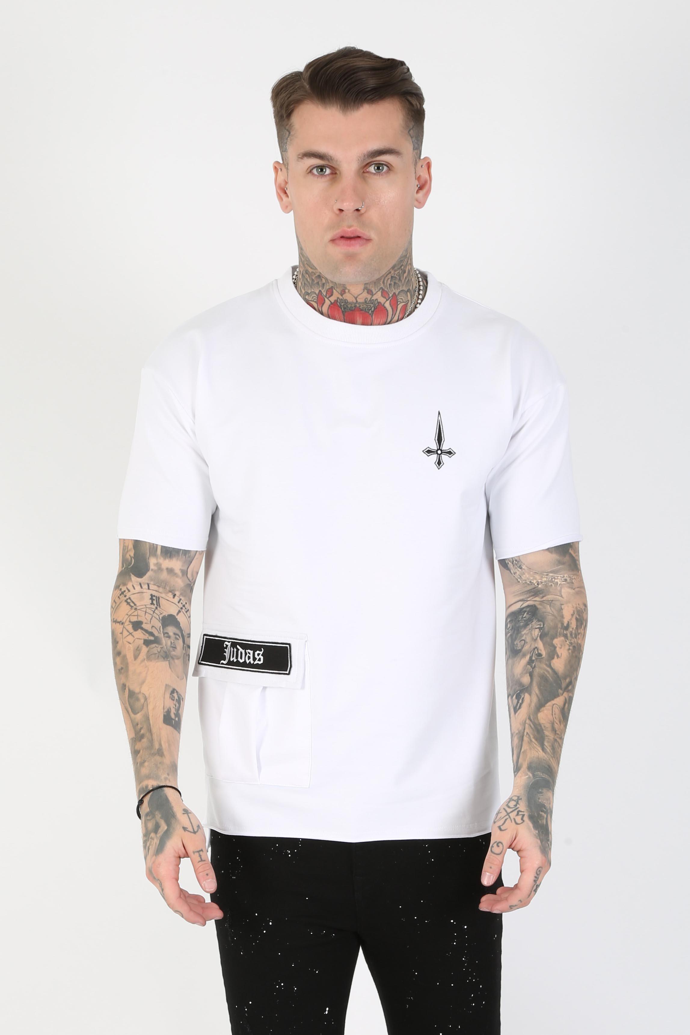 Stant Pocket Detail Men's T-Shirt - White, Medium