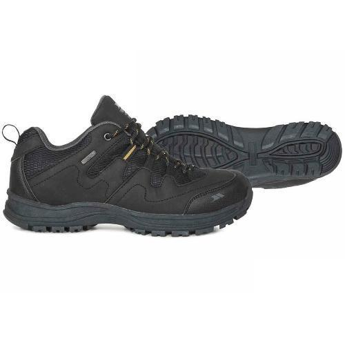 Trespass Men's Low Cut Hiking Shoes Black Finley - Black UK-7 / EU-41