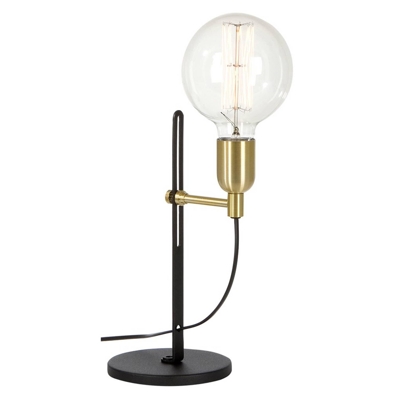 Bordlampe Regal svart messing, ett lys